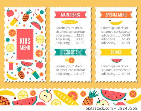 Kids menu template stock illustration 38243568 pixta kids menu template maxwellsz