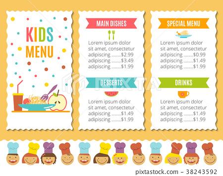 Kids menu template stock illustration 38243592 pixta kids menu template maxwellsz