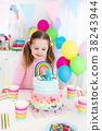 Kids birthday party with cake 38243944