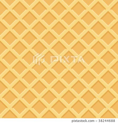Waffle seamless pattern. Vector Illustration 38244688