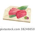 tuna, sashimi, aquarelle 38246650