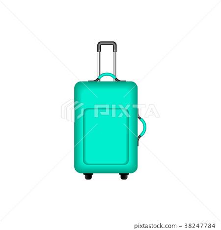 Travel suitcase in turquoise design 38247784