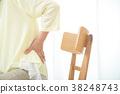 腰痛 背痛 下背疼痛 38248743
