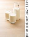 우유, 밀크, 컵 38248884