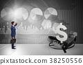 crisis, trap, businessman 38250556