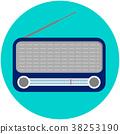 벡터, 라디오, 복고풍 38253190