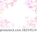 水彩三角拼貼畫背景材料 38254514