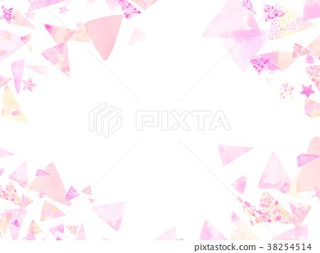 水彩畫 框架 幀 38254514