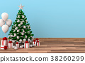 mock up poster frame Christmas interior  room. 3d  38260299