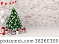 mock up poster frame Christmas interior  room. 3d  38260300