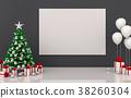 mock up poster frame Christmas interior room. 3d r 38260304