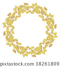 Pasta mix in circle shape. Colored hand drawn 38261809