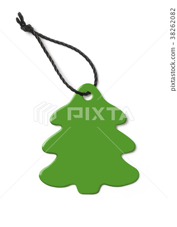 price tag in the form of fir-tree 38262082
