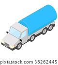 Tank truck. Isometric vector illustration 38262445