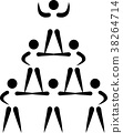 Cheerleading pyramid pictogram 38264714