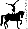 Horse Vaulting silhouette 38264911
