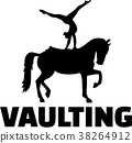 Horse Vaulting silhouette with word 38264912