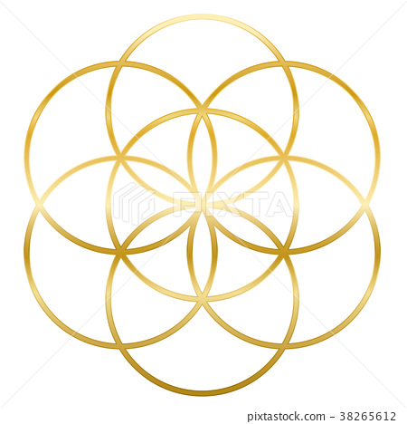 Golden Seed Of Life Flower Of Life 38265612