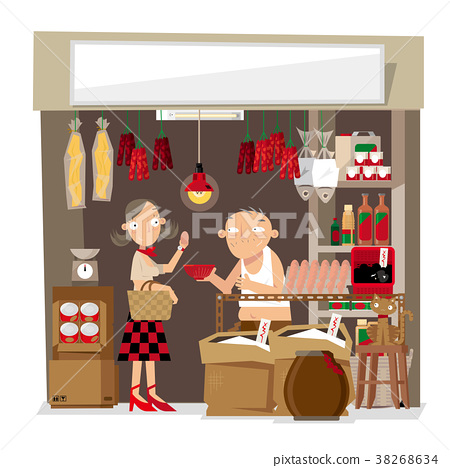 A small local grocery store in Hong Kong 38268634