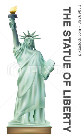 the statue of liberty vector on white background 38269051