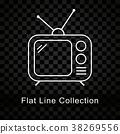 icon, tv, set 38269556