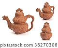 Antique teapot isolated on white background 38270306