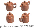 Antique teapot isolated on white background 38270307