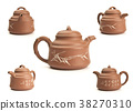 Antique teapot isolated on white background 38270310