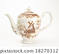 Antique teapot isolated on white background 38270312