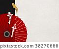 일본 현대적인 일러스트 (잉어, 우산) 38270666