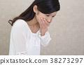 一位女士抱怨身体状况 38273297