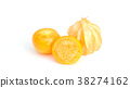 Cape gooseberry on a white background. 38274162