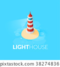 lighthouse isometric flat 38274836