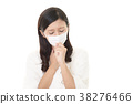 감기에 걸린 여성 38276466
