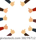 group of people with thumbs up on white background 38276712