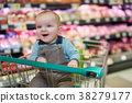 shopping, baby, supermarket 38279177