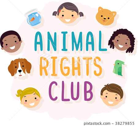 Kids Animal Rights Club Illustration 38279855