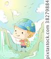 Kid Boy Geography Nature Walk Illustration 38279884
