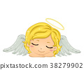 Kid Girl Angel Sleeping Illustration 38279902