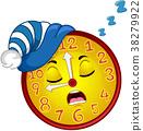 Clock Mascot Sleep Bedtime Illustration 38279922