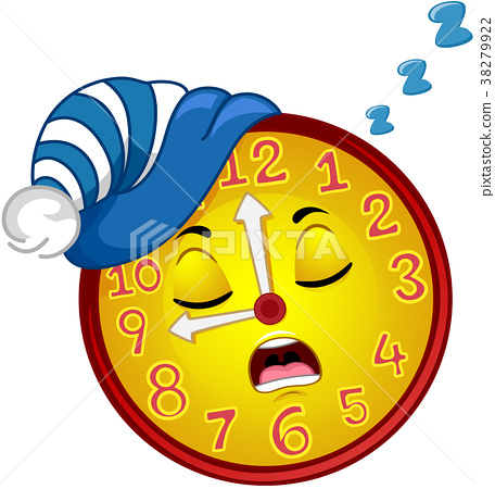 Clock Mascot Sleep Bedtime Illustration 38279922
