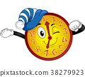 Clock Mascot Wake Up Time Illustration 38279923