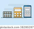 illustration of calculator flat line design 38280287