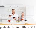 老人 夫婦 一對 38280511