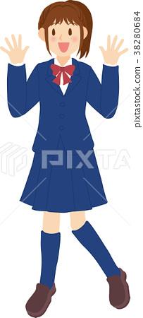 high school girl 38280684