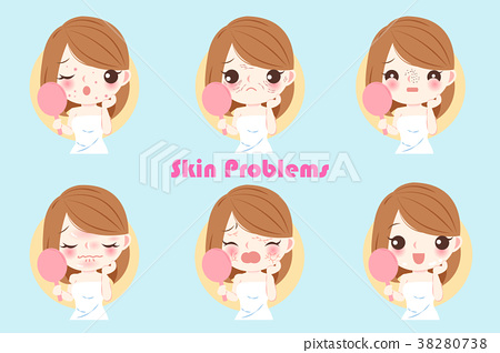 woman with skin problem 38280738