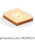 吐司 黄油烤面包 面包 38284014