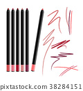 Cosmetic Make-up Eye liner Set Pencils Vector  38284151