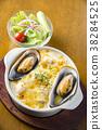 요리, 홍합, 그라탕 38284525