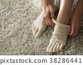 5 발가락 양말을 신는 젊은 일본인 여성 38286441